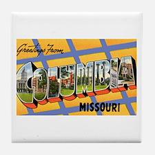 Columbia Missouri Greetings Tile Coaster