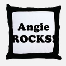 Angie Rocks! Throw Pillow