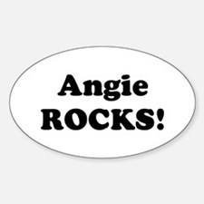Angie Rocks! Oval Decal