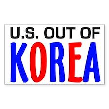 U.S. out of Korea Rectangle Decal
