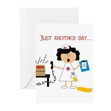 Stressed Out Nurse Greeting Cards (Pk of 10)