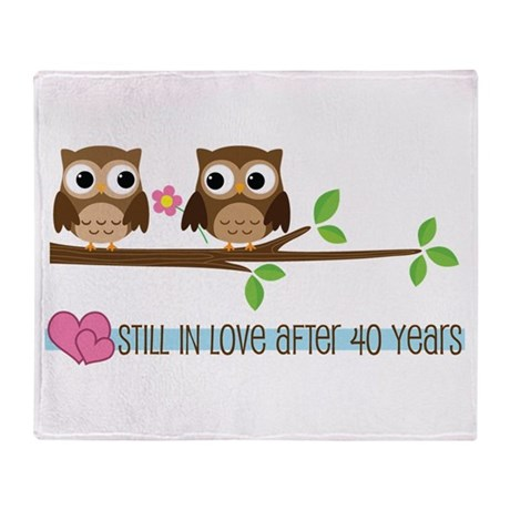 Owl 40th Anniversary Throw Blanket