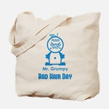 MR GRUMPY moody angry face bad hair day funny Tote