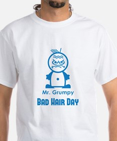 MR GRUMPY moody angry face bad hair day funny Whit