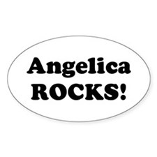 Angelica Rocks! Oval Decal