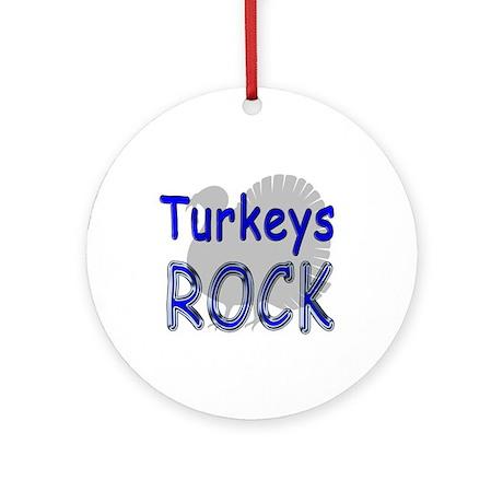 Turkeys Rock Ornament (Round)