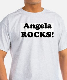 Angela Rocks! Ash Grey T-Shirt