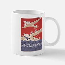 Retro Airplanes New York Mug