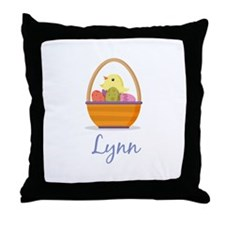 Easter Basket Lynn Throw Pillow