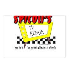 Spicoli TV Repair Postcards (Package of 8)