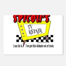 Spicoli TV Repair Postcards (Package of 8)