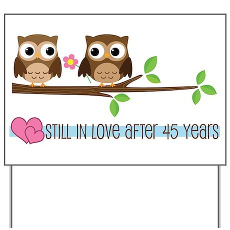 Owl 45th Anniversary Yard Sign