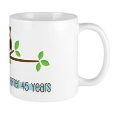 Owl 45th Anniversary Mug