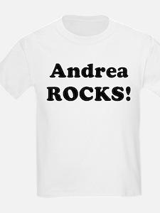 Andrea Rocks! Kids T-Shirt