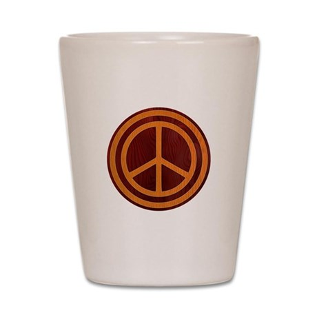Woody Peace II Shot Glass