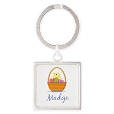 Easter Basket Madge Keychains