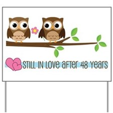 Owl 48th Anniversary Yard Sign
