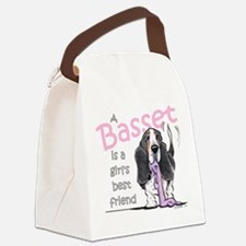 Basset Girls Friend Canvas Lunch Bag