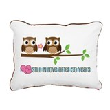50th anniversary Rectangle Canvas Pillows