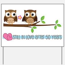 Owl 50th Anniversary Yard Sign