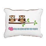 55th wedding anniversary Rectangle Canvas Pillows