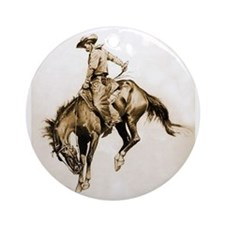Bucking Bronco Ornament (Round)