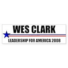 """Wes Clark 2008"" Bumper Bumper Sticker"