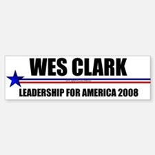 """Wes Clark 2008"" Bumper Car Car Sticker"