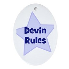 Devin Rules Oval Ornament