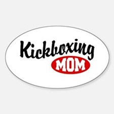 Kickboxing Mom Oval Decal