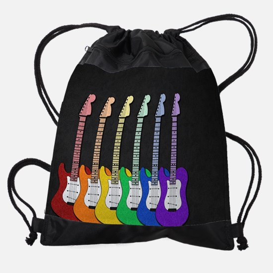 Rainbow  Guitars Drawstring Bag
