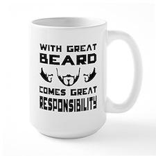 With great beard comes great responsibilty Mug