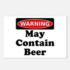 Warning May Contain Beer Postcards (Package of 8)
