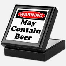Warning May Contain Beer Keepsake Box