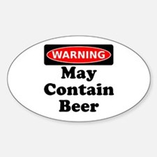Warning May Contain Beer Decal