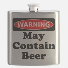 Warning May Contain Beer Flask