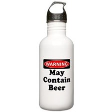 Warning May Contain Beer Water Bottle