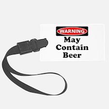 Warning May Contain Beer Luggage Tag
