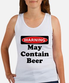 Warning May Contain Beer Tank Top