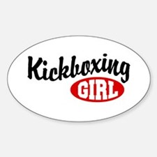 Kickboxing Girl Oval Decal