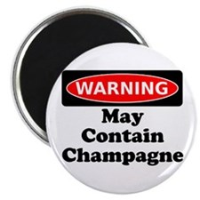 Warning May Contain Champagne Magnet