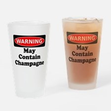 Warning May Contain Champagne Drinking Glass