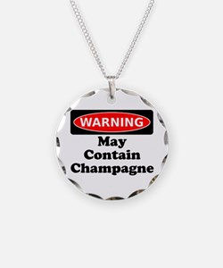 Warning May Contain Champagne Necklace