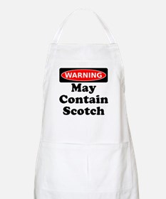 Warning May Contain Scotch Apron
