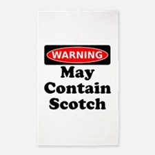 Warning May Contain Scotch 3'x5' Area Rug