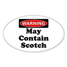 Warning May Contain Scotch Decal