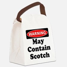 Warning May Contain Scotch Canvas Lunch Bag