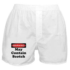 Warning May Contain Scotch Boxer Shorts