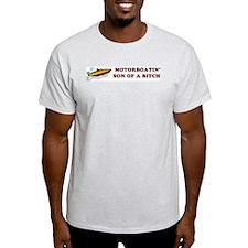 Motorboatin SOB Design 2 Ash Grey T-Shirt