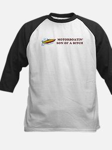 Motorboatin SOB Design 2 Kids Baseball Jersey